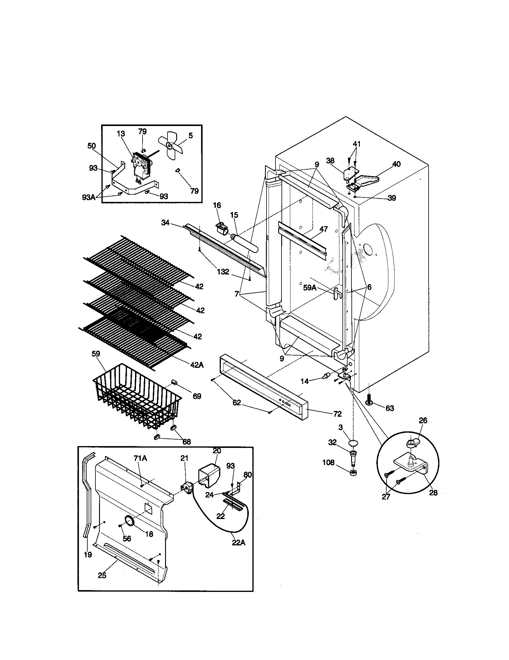 hight resolution of kenmore 2539284213 cabinet diagram