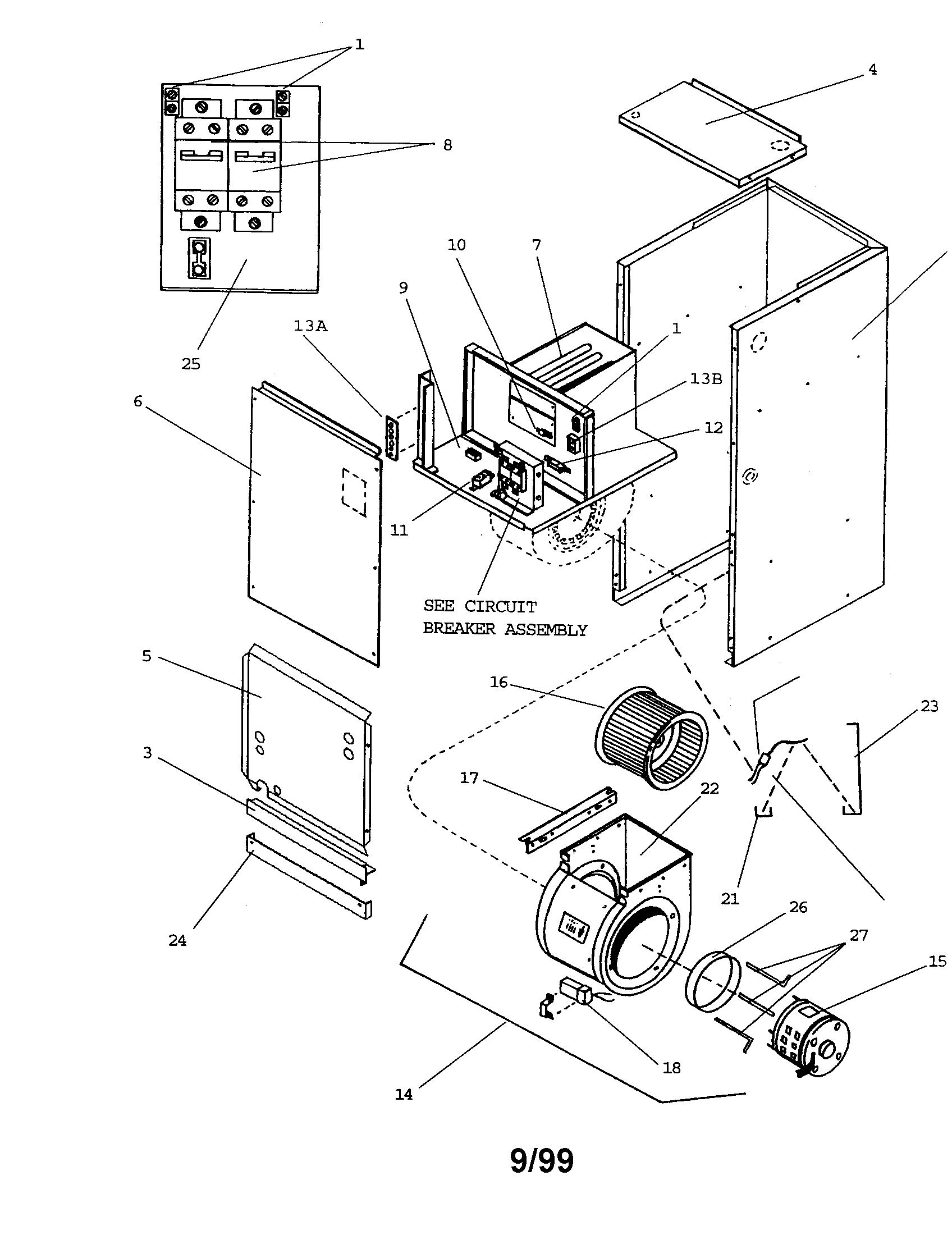 Goodman model a49 15 air handler indoor blower evap genuine parts rh searspartsdirect goodman air conditioner parts diagram goodman air conditioner