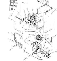 goodman model a49 15 air handler indoor blower evap genuine parts hvac parts diagram air handler parts diagram [ 1696 x 2200 Pixel ]
