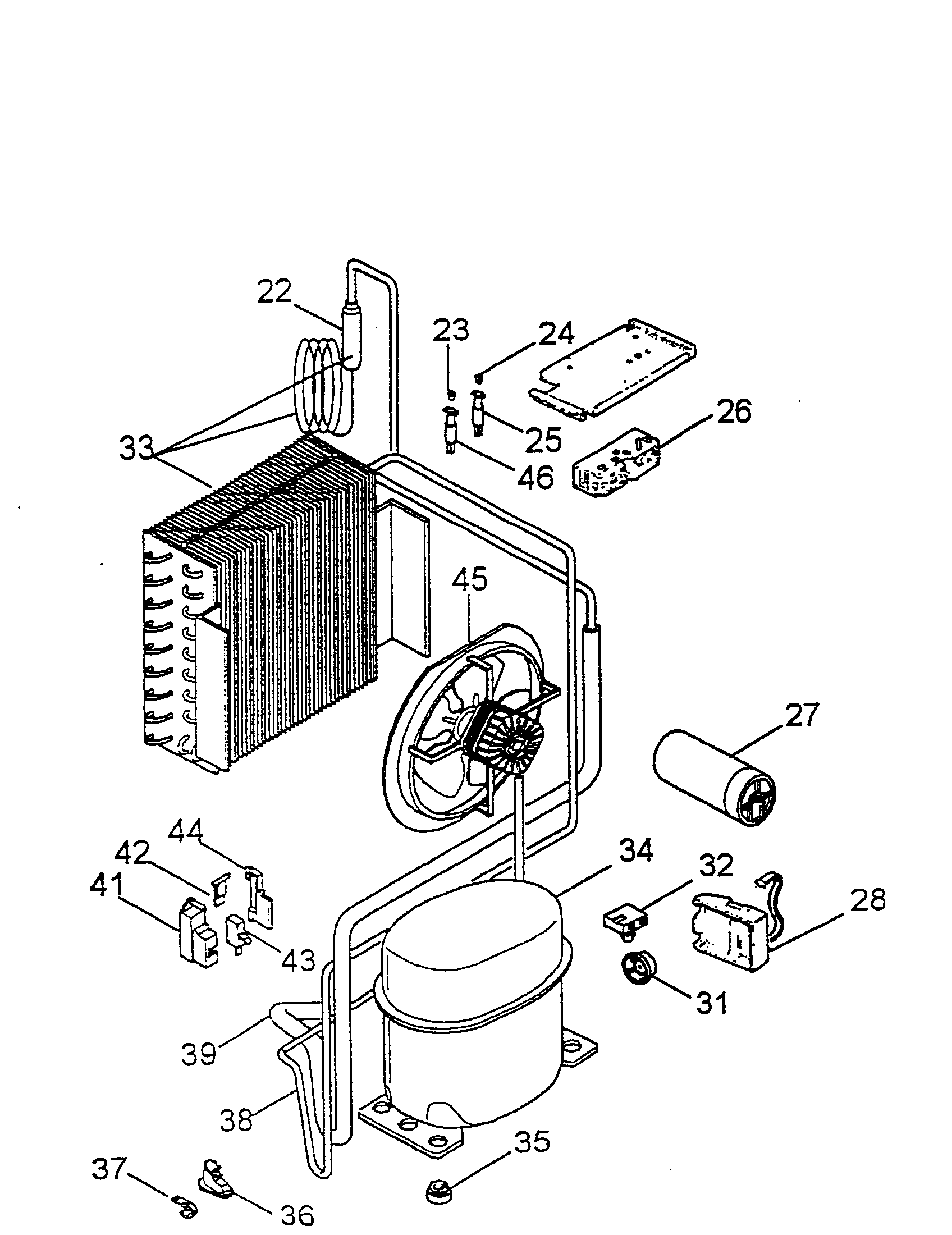 Evaporator Coil Diagram And Parts List For Delonghi