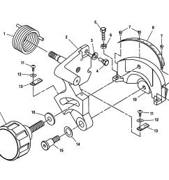 craftsman 10 compound miter saw bevel pivot bracket assembly parts [ 2200 x 1696 Pixel ]