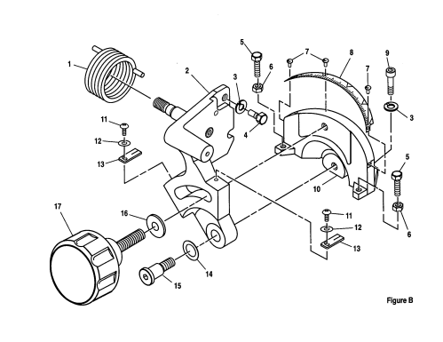 small resolution of craftsman 10 compound miter saw bevel pivot bracket assembly parts
