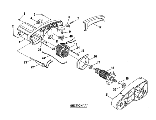 small resolution of craftsman 10 compound miter saw armature assembly parts