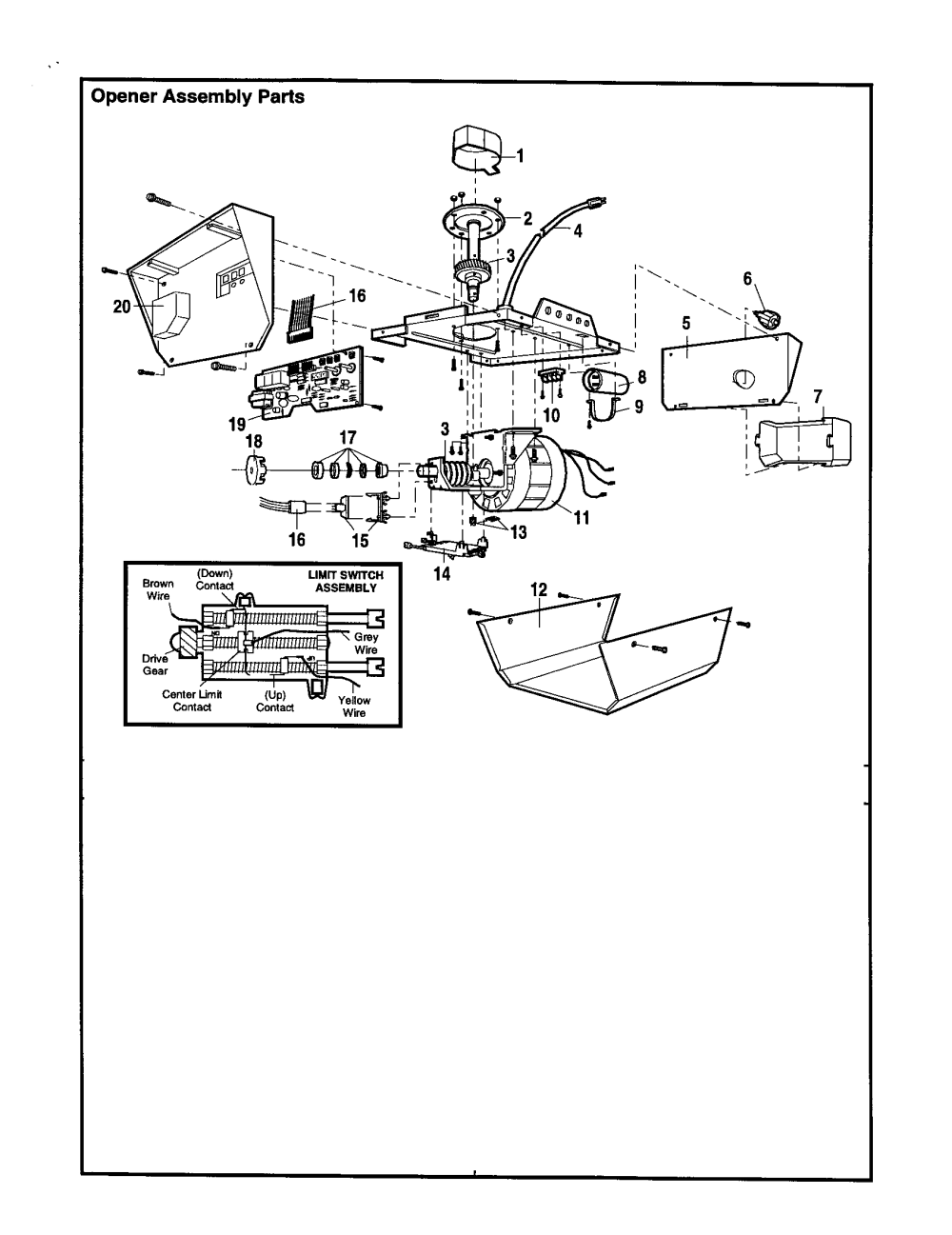 medium resolution of craftsman 13953650srt opener assembly diagram