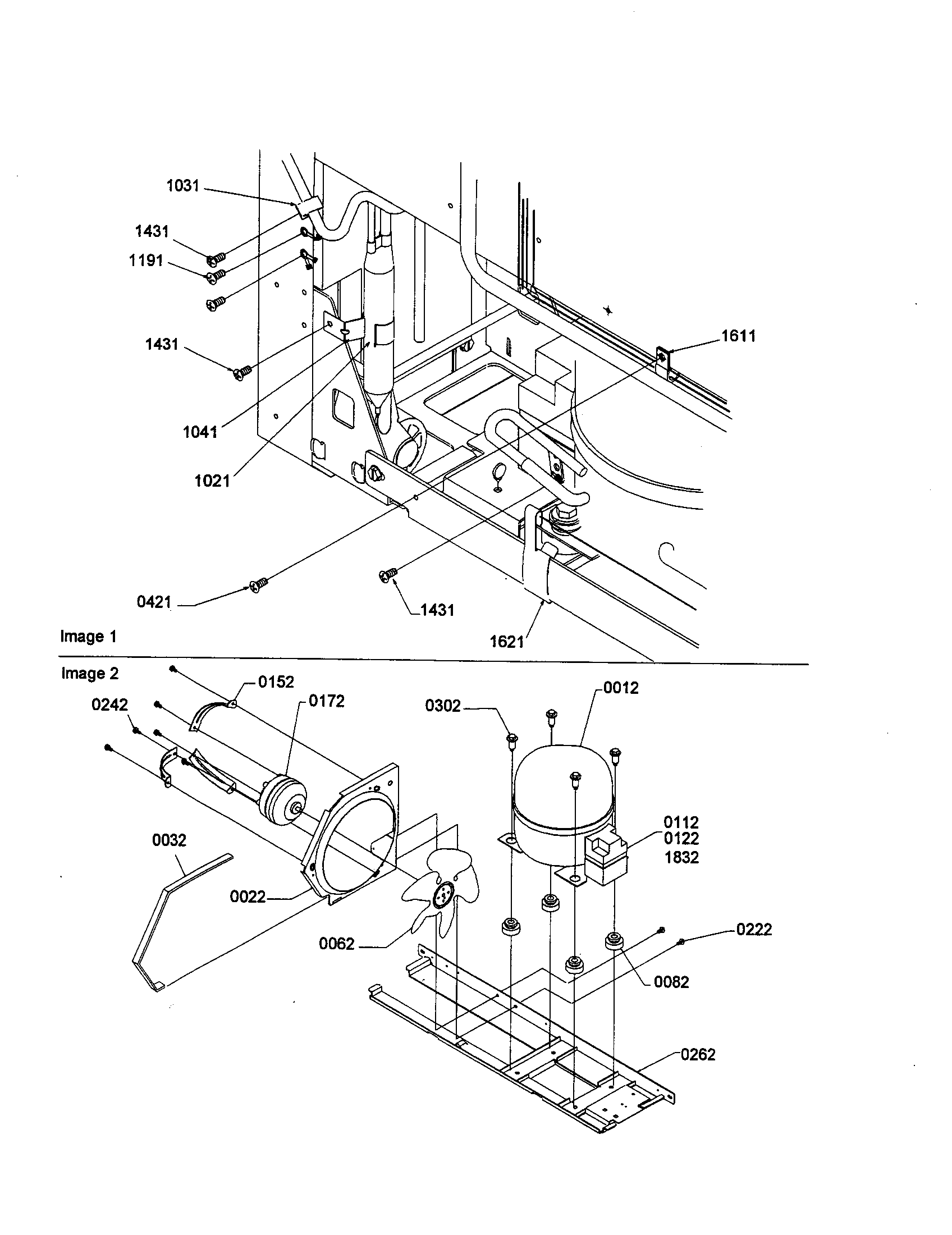 MACHINE COMPARTMENT ASSEMBLY Diagram & Parts List for