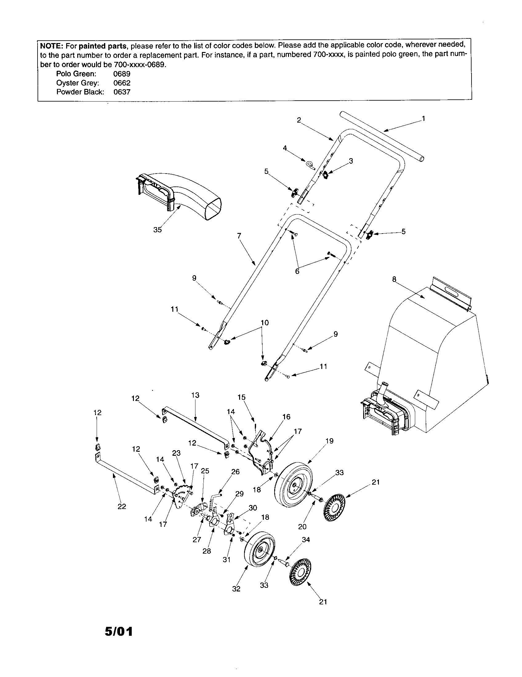 Vacuum Parts: Yard Vacuum Parts