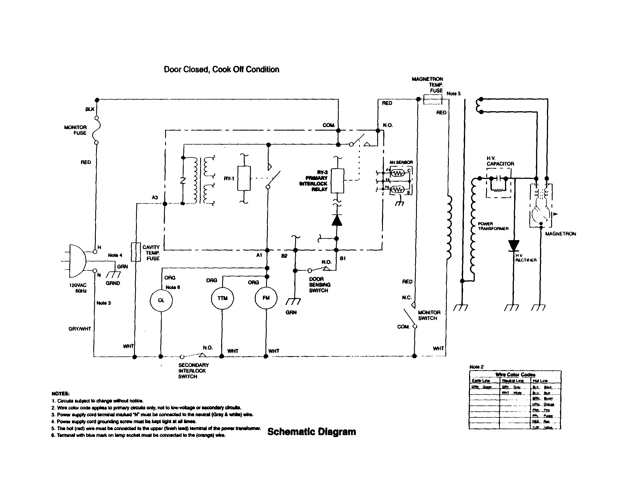 Microwave Wiring Schematic | Wiring Diagram on