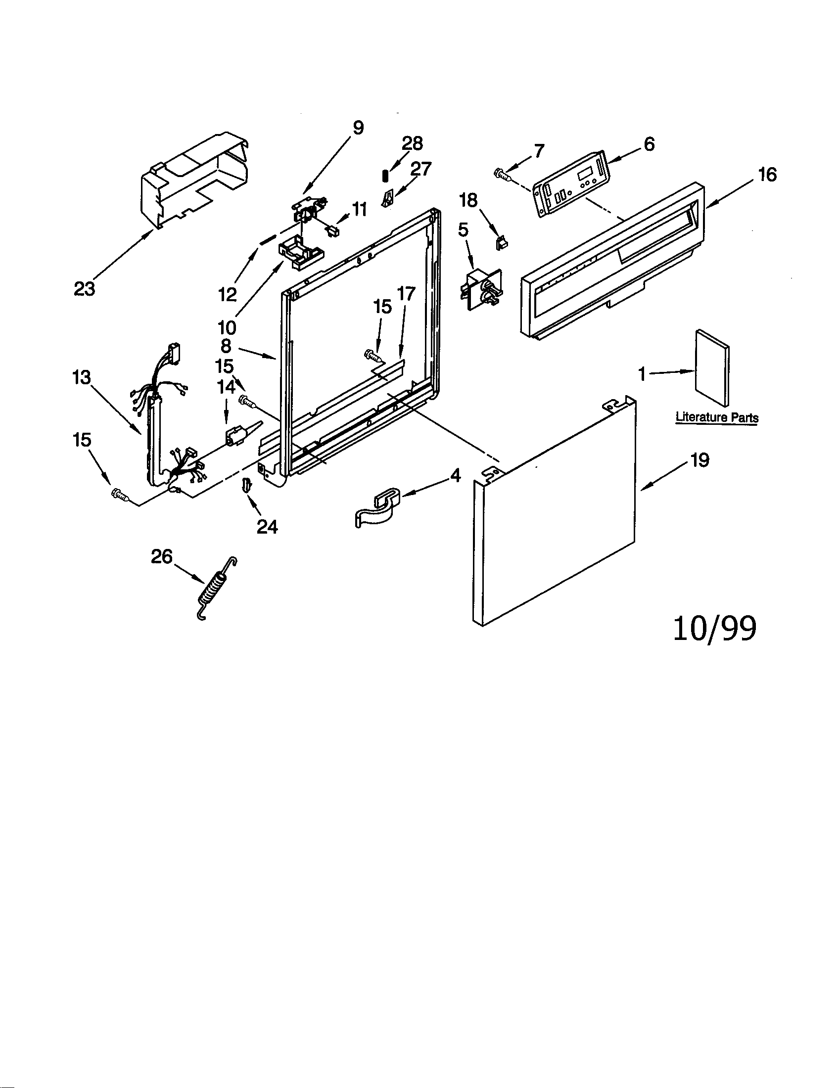 Kenmore Ultra Wash Dishwasher Parts Diagram Kenmore Dryer