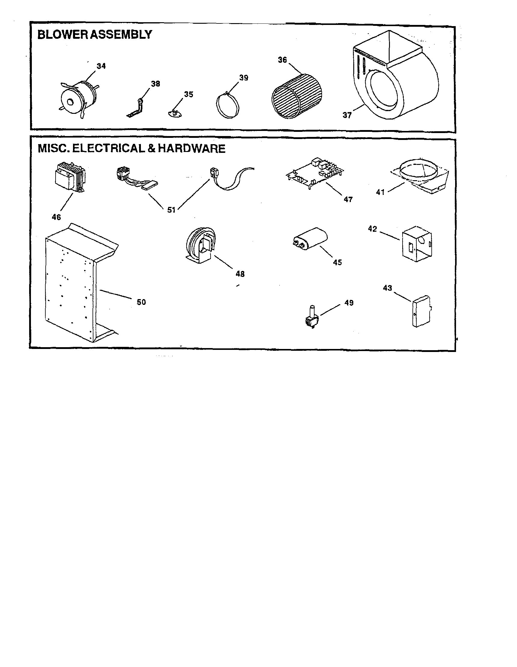 electrical hardware diagram parts list for model gmp1005 goodman