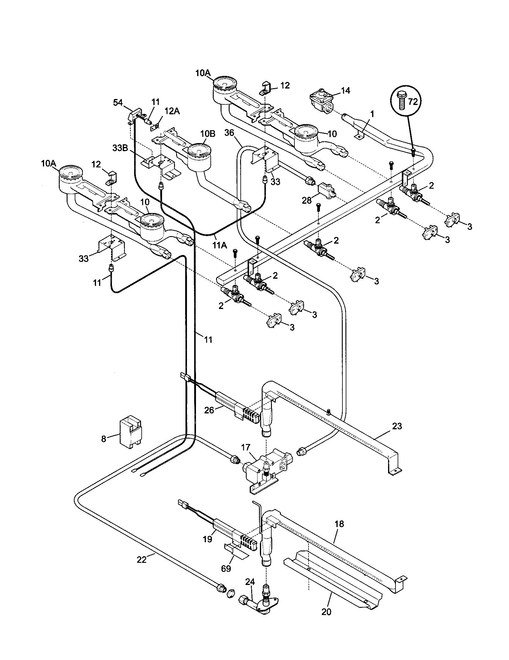 Tappan gas stove 36