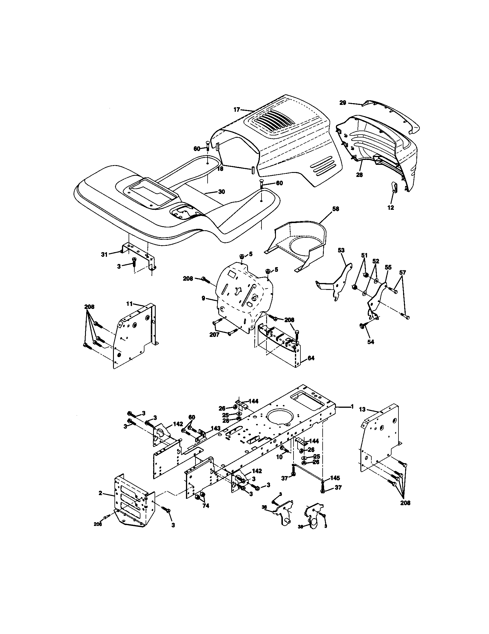 hight resolution of craftsman 917271140 chassis diagram