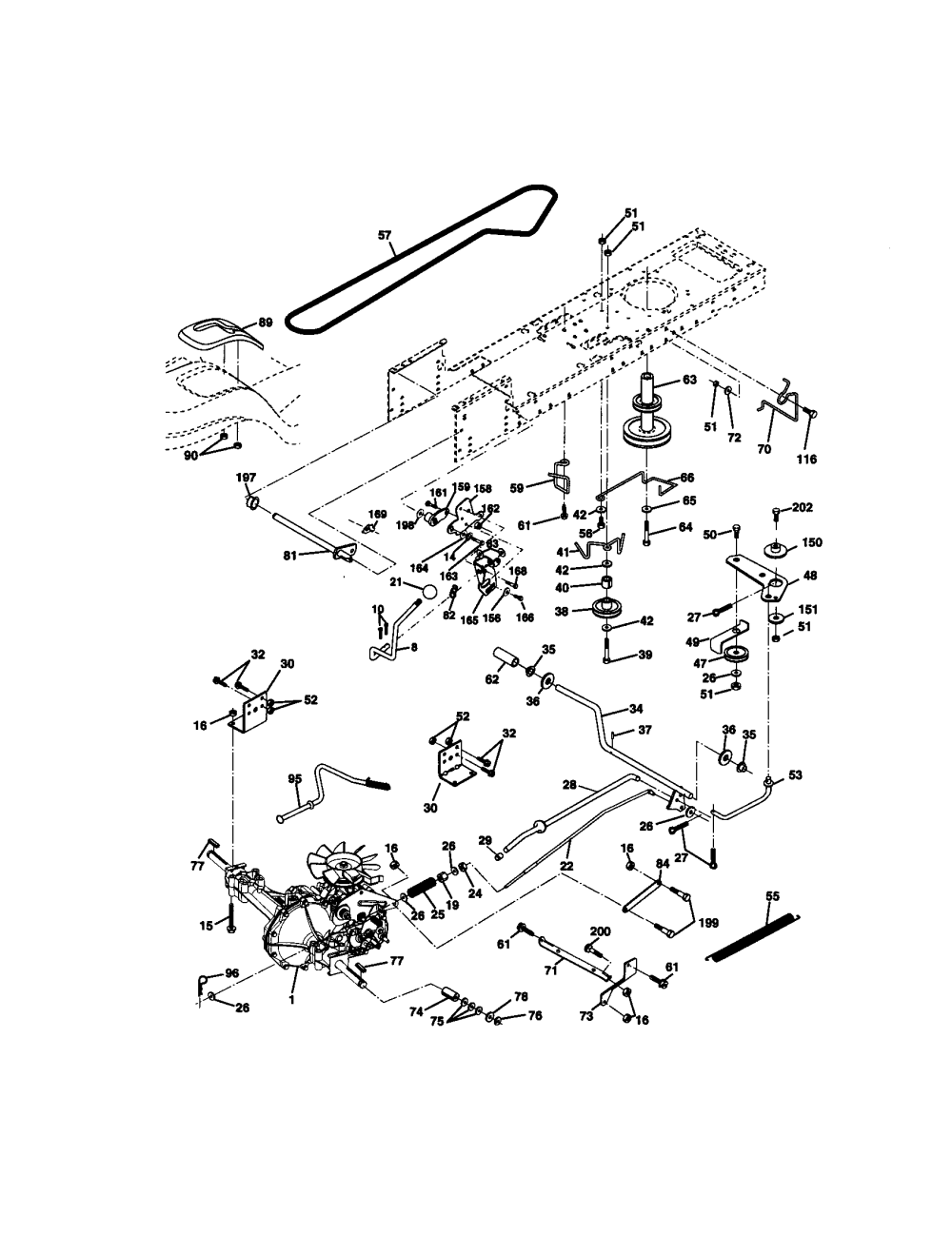 medium resolution of craftsman 917271140 ground drive diagram