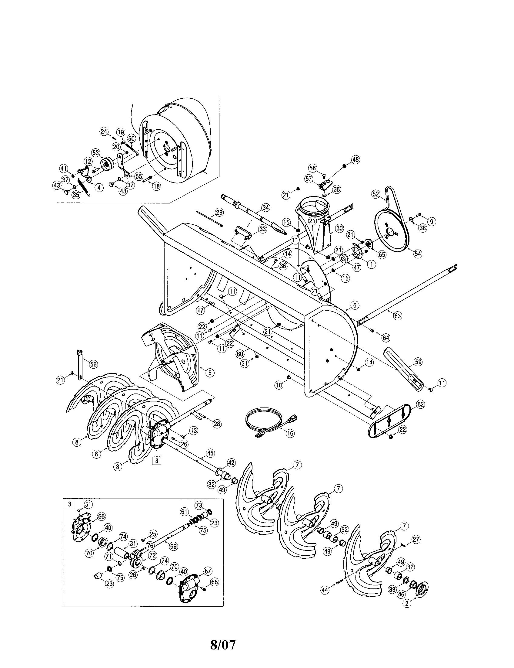 Sears craftsman snowblower parts manual