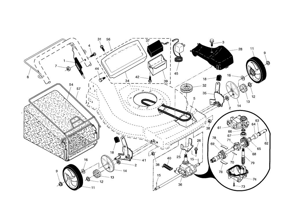 medium resolution of craftsman 917376741 drive control gear case wheels diagram