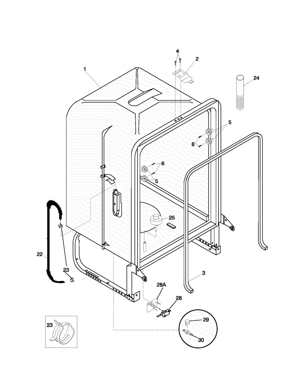 medium resolution of frigidaire gldb653js2 tub diagram