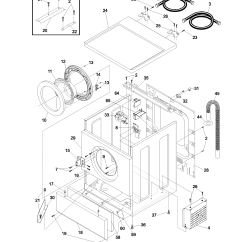 Frigidaire Front Load Washer Parts Diagram Simple Wiring For Motorcycle Wshr Cab Door Model Gltr1670as0