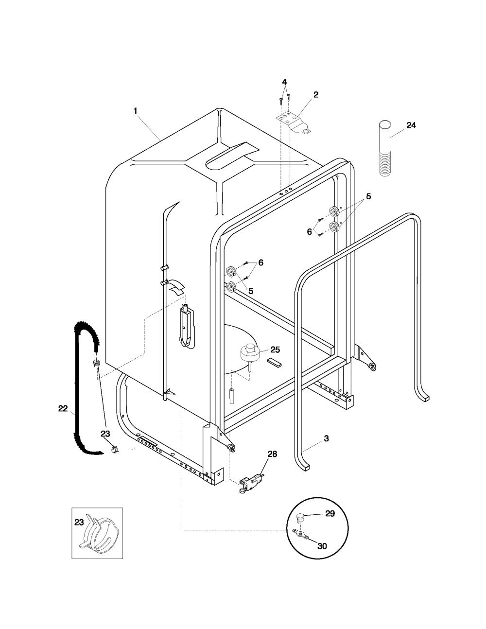 medium resolution of frigidaire dishwasher hose diagram wiring diagrams dishwasher drain hose loop dishwasher hose and wire diagram