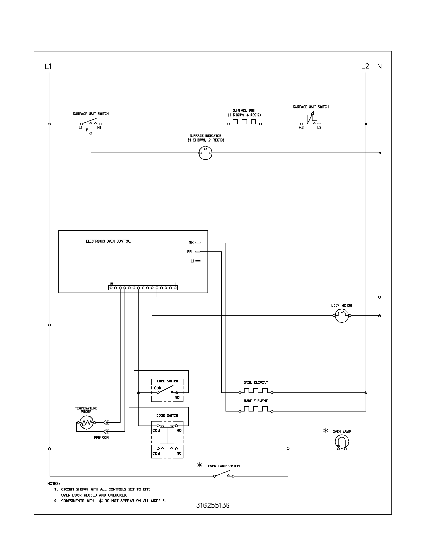 hight resolution of thermostat wiring diagram kelvinator model kef355asc free standing electric genuine parts rh buck stove
