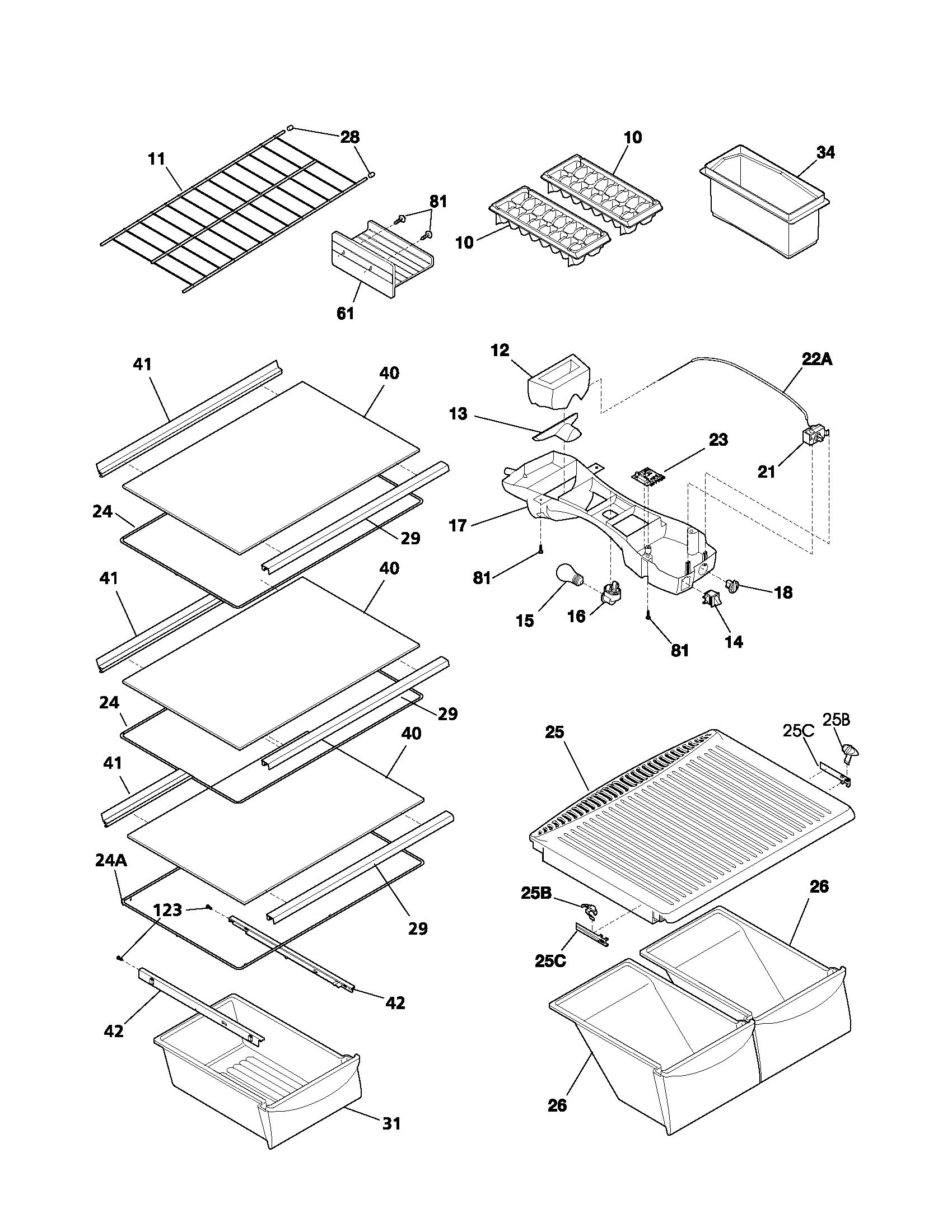 Whitewestinghouse refrigeratorparts diagram and parts list for whitewestinghouse refrigeratorparts 1700 x 2200 · 55 kb ·