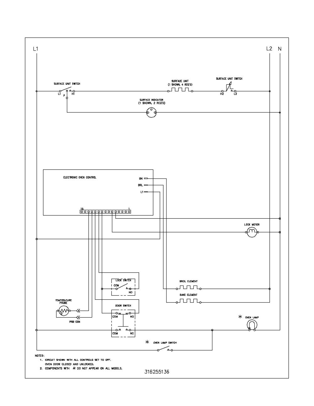 medium resolution of frigidaire fef352aud wiring schematic diagram