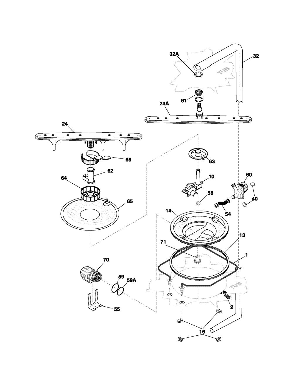 medium resolution of frigidaire model pldb998cc0 dishwasher genuine parts rh searspartsdirect com electrolux dishwasher parts layout electrolux dishwasher problems