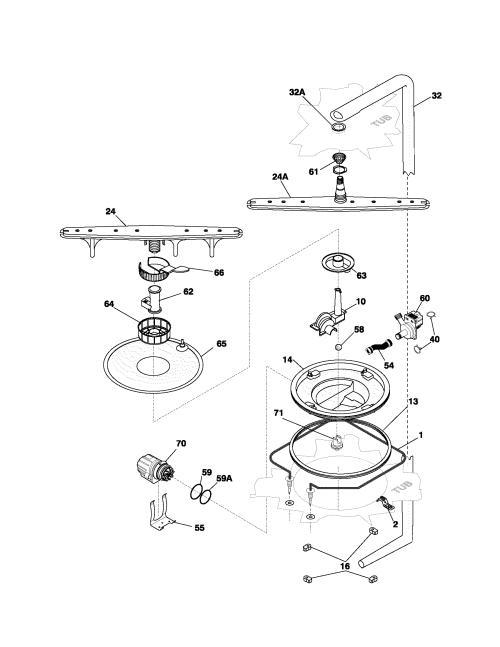 small resolution of frigidaire model pldb998cc0 dishwasher genuine parts rh searspartsdirect com electrolux dishwasher parts layout electrolux dishwasher problems