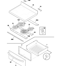 frigidaire fef336bcc top drawer diagram [ 1700 x 2200 Pixel ]