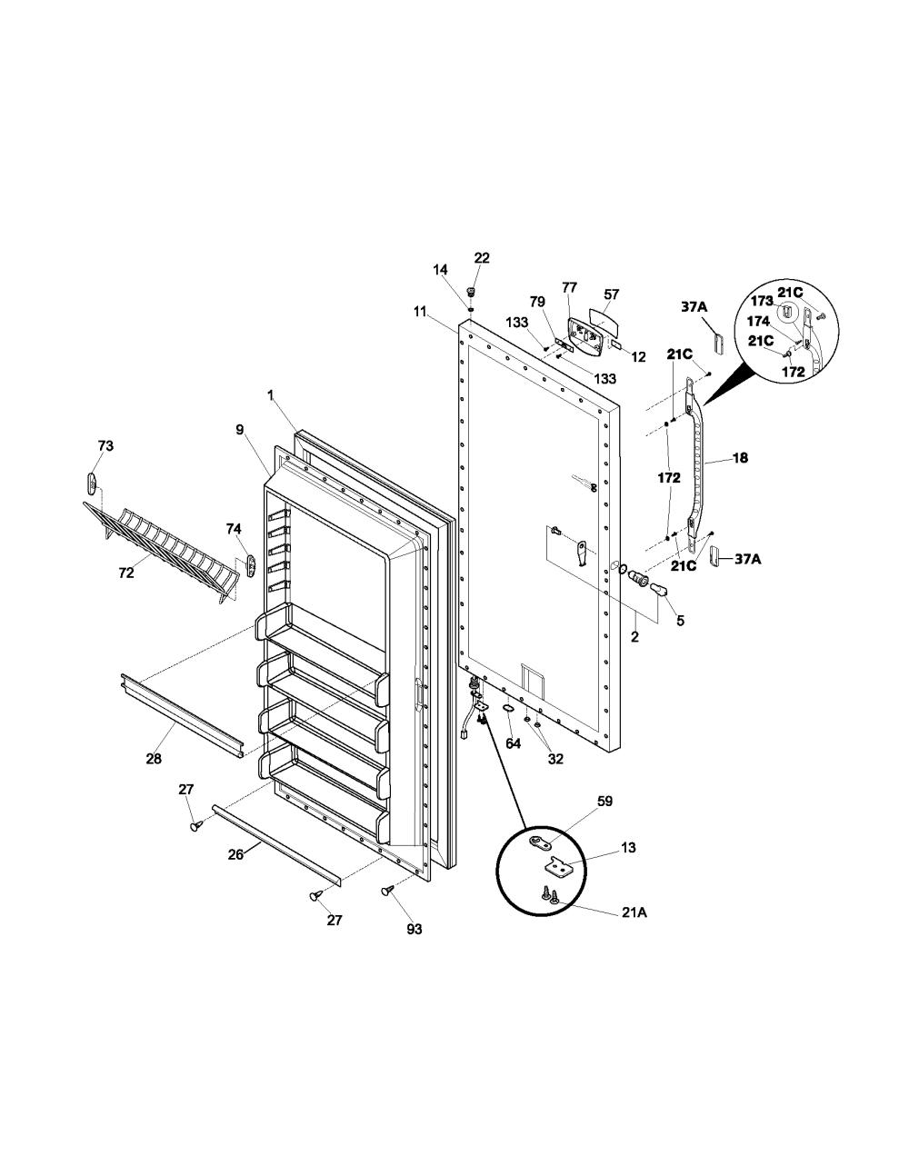 medium resolution of 25316082108 kenmore freezer repair parts manuals kenmore upright freezer repair manual
