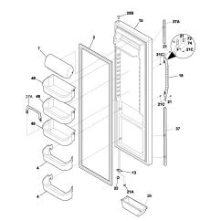 Kenmore 106 Refrigerator Parts Diagram Wiring For Trailer 7 Pin Plug Frigidaire Gallery Fghb2866pf Sears