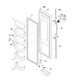 kenmore 25353672302 refrigerator door diagram [ 1700 x 2200 Pixel ]