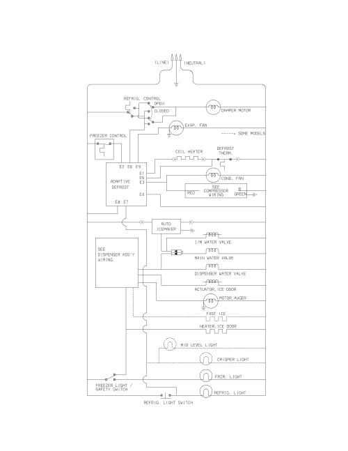 small resolution of frigidaire frs23h5asb8 wiring schematic diagram