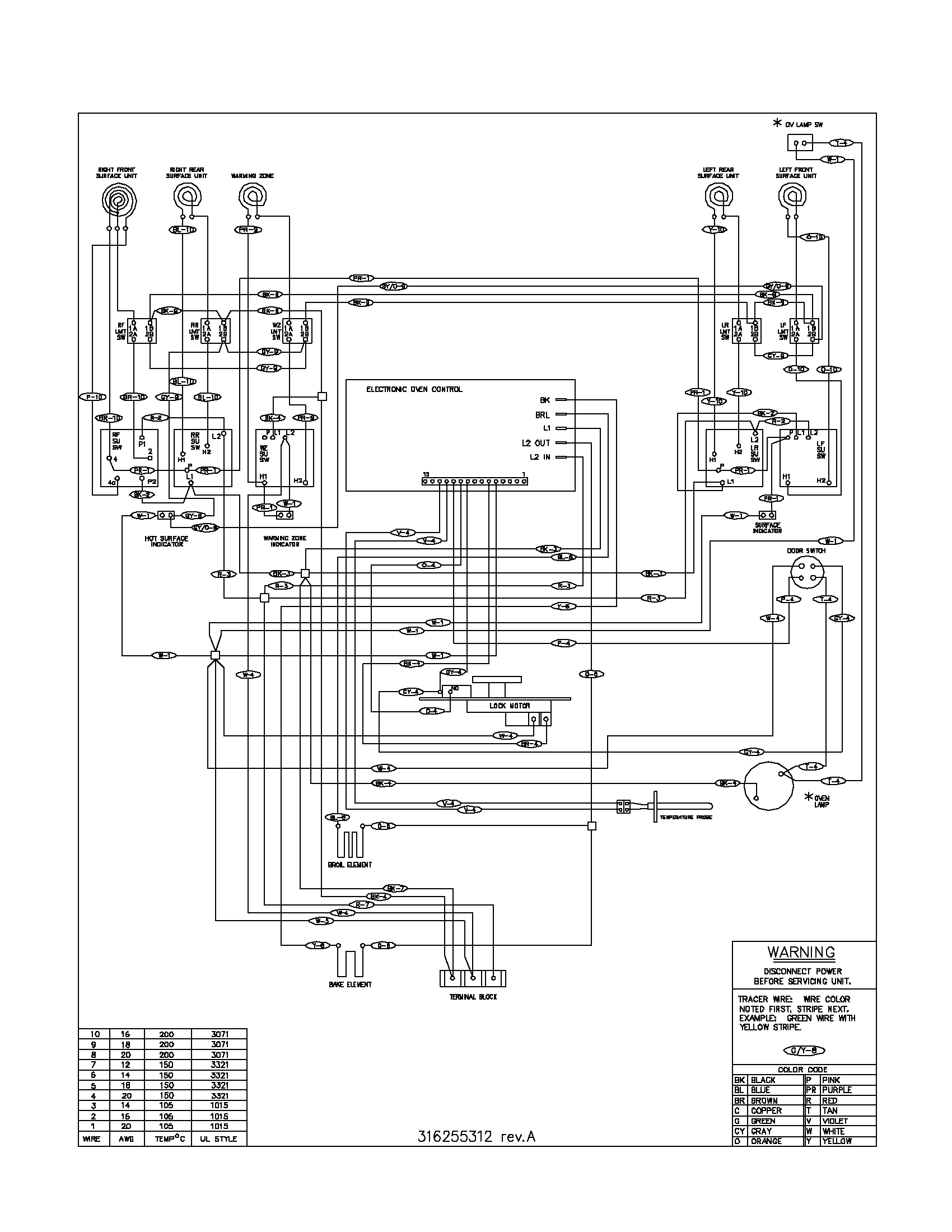 westinghouse oven element wiring diagram power to light then switch frigidaire model fefb68cba free standing electric genuine parts