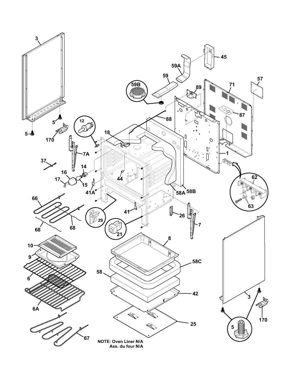 medium resolution of frigidaire fef366ccb body diagram