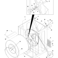 Frigidaire Dryer Diagram Bmw E87 Wiring Cabinet Drum And Parts List For Model Glgr341as4