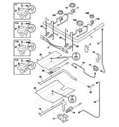 frigidaire model plgf389ccc free standing gas genuine partsfrigidaire gas range wiring diagram 8 [ 1700 x 2200 Pixel ]