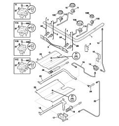 looking for frigidaire model fgfl89cca gas range repair frigidaire fgfl89cca burner diagram [ 1700 x 2200 Pixel ]