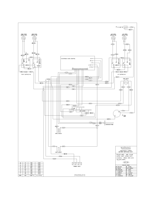 small resolution of frigidaire model fef352awg free standing electric genuine parts frigidaire dryer parts frigidaire range wiring diagram