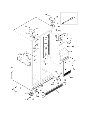 FRIGIDAIRE Refrigerator Refrigerator door Parts | Model