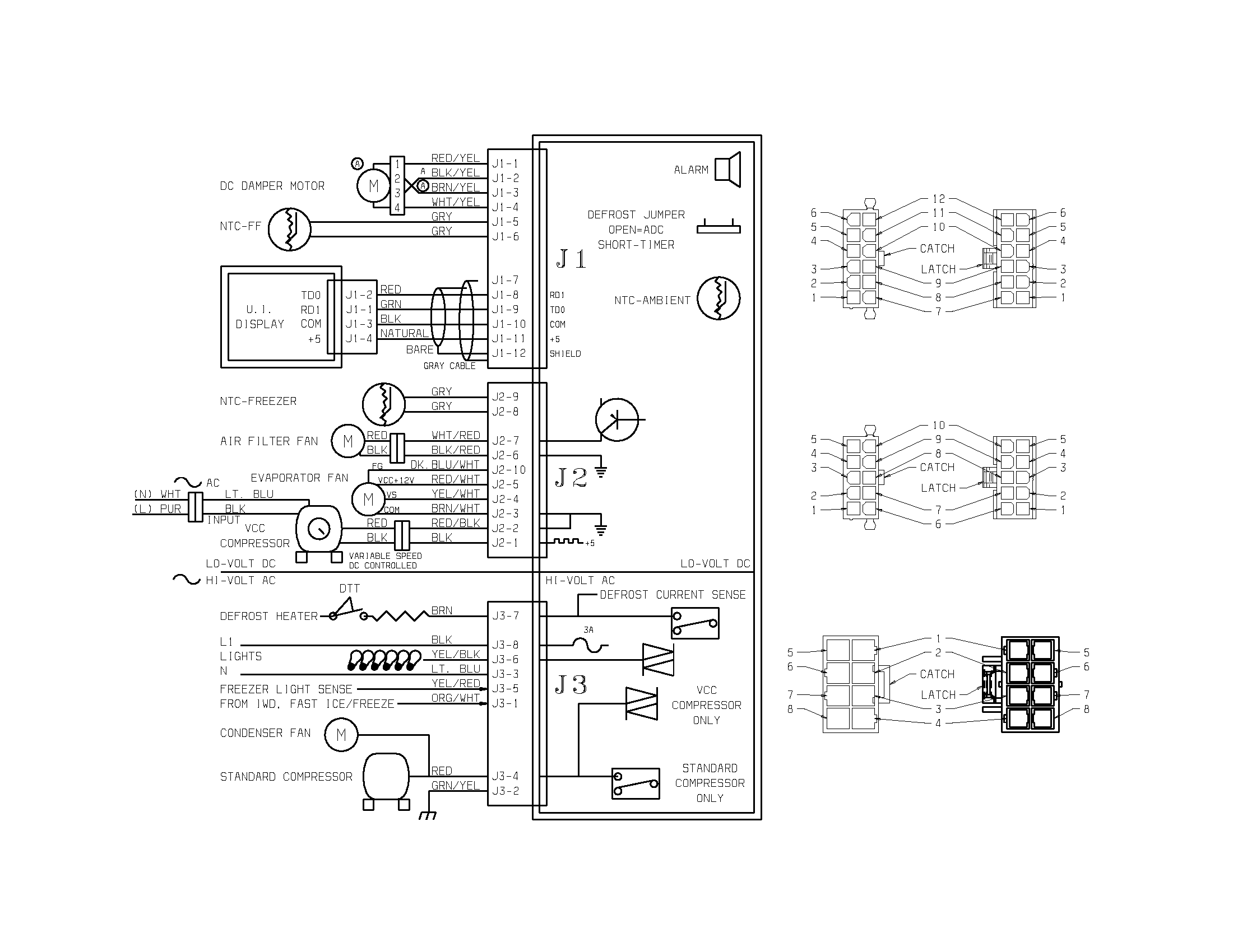 refrigerator wiring diagrams for ge gss20gewj bb