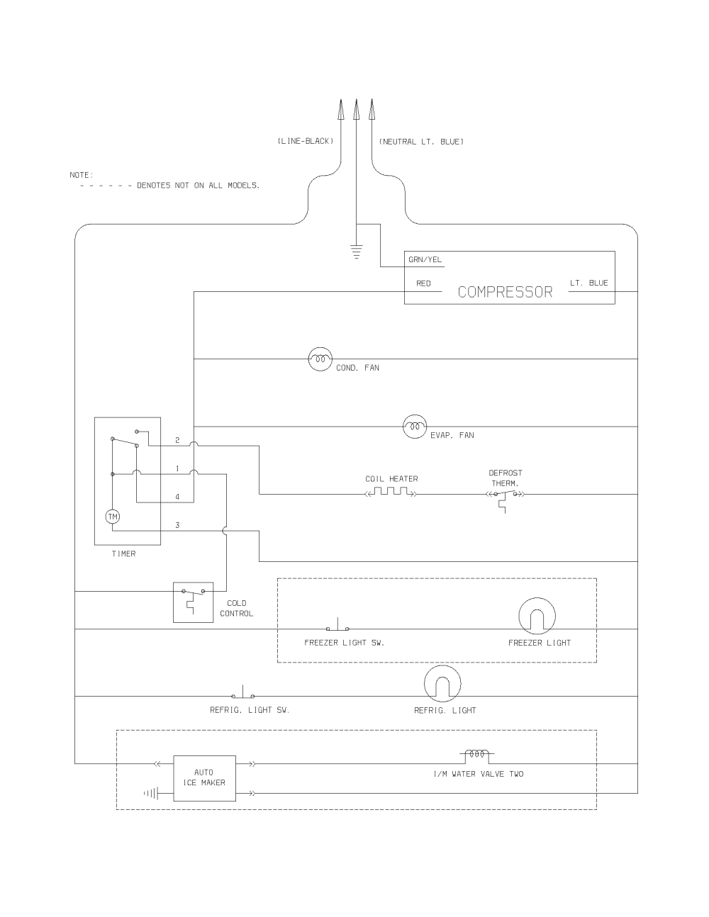 medium resolution of kenmore model 25364194400 top mount refrigerator genuine parts dryer wiring diagram likewise kenmore refrigerator wiring diagram