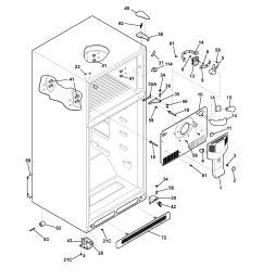 frigidaire glrt212idw1 cabinet diagram [ 1700 x 2200 Pixel ]