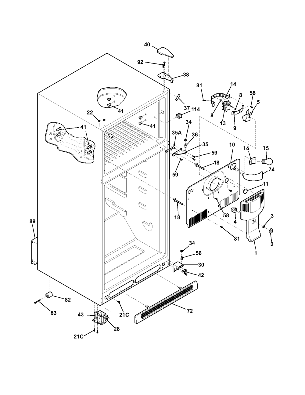 medium resolution of frigidaire glrt212idw1 cabinet diagram