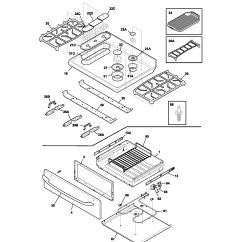 Kenmore Elite Parts Diagram 2001 Saturn Sl1 Starter Wiring Gas Range Top Drawer Model