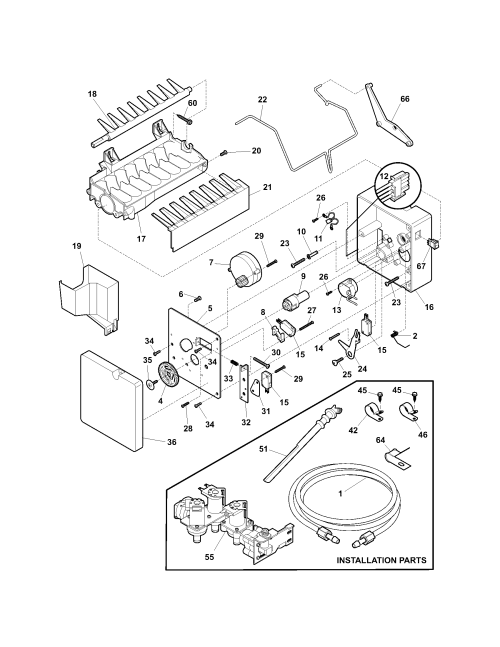 small resolution of kenmore 25354669403 ice maker diagram