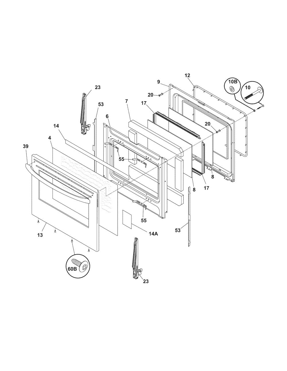 medium resolution of oven door schematic wiring diagram sortlooking for frigidaire model fefl67dcg electric range repair oven door schematic