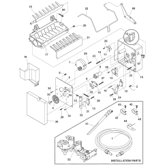 Kenmore Elite Parts Diagram Outlet Switch Combo Wiring Ice Maker And List For Model 25344393407