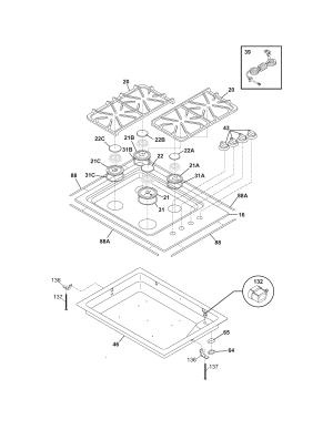 FRIGIDAIRE GAS COOKTOP Parts | Model PLGC30S9ECA | Sears PartsDirect