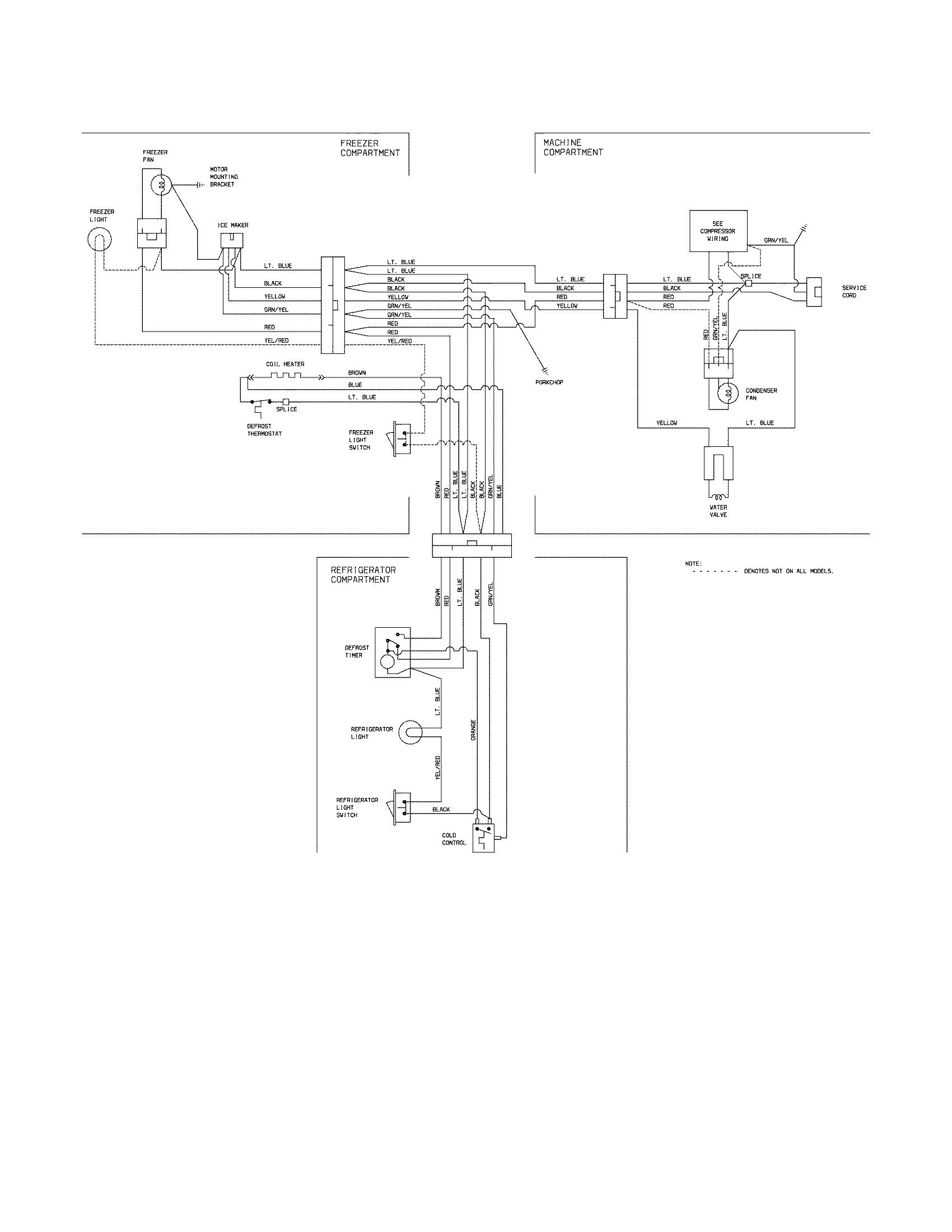 hight resolution of kenmore model 25364522404 top mount refrigerator genuine parts kenmore coldspot refrigerator wiring diagram kenmore refrigerator circuit