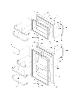 FRIGIDAIRE REFRIGERATOR Parts | Model FRT15B3AW9 | Sears