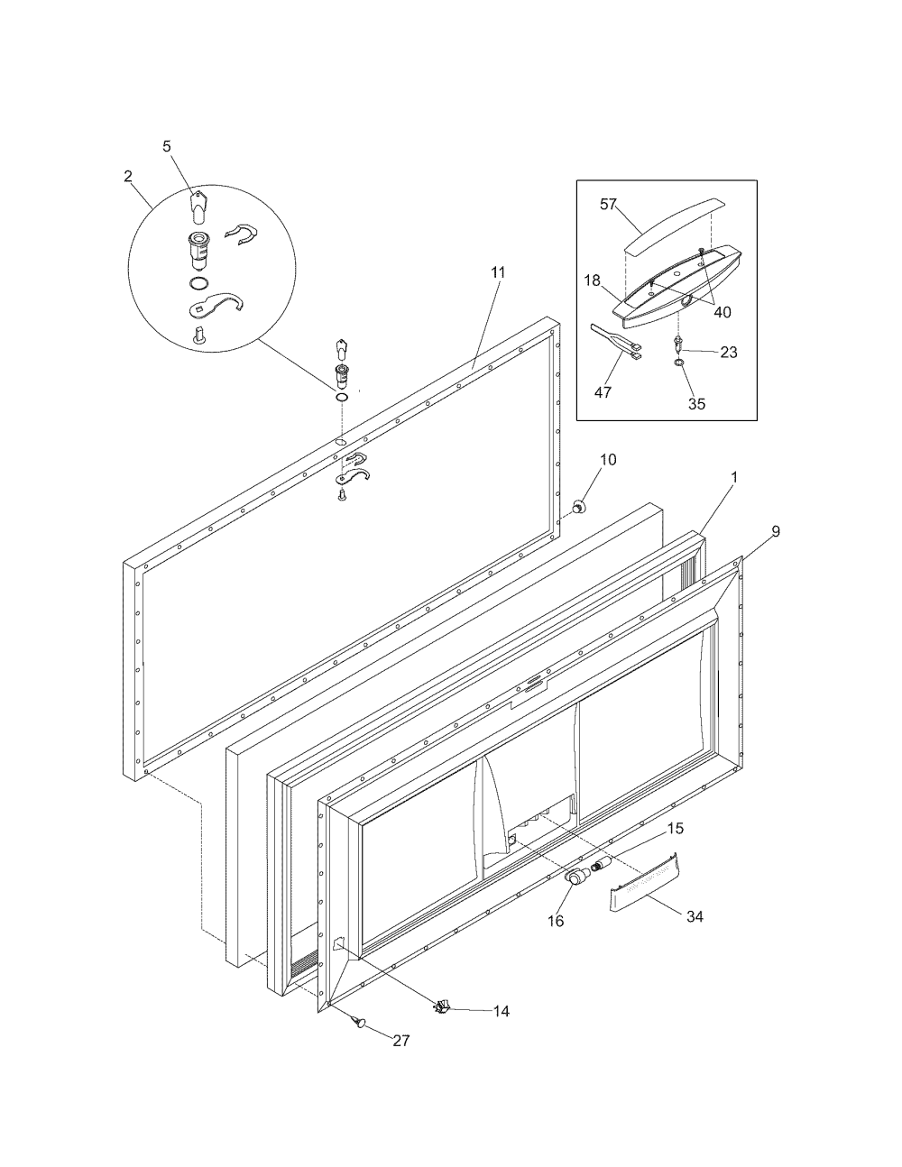 medium resolution of kenmore model 25316562100 chest freezer genuine parts kenmore gas range wiring diagram kenmore chest freezer wiring diagram